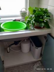 为怡景家园客户安装前置+508A反渗透净水设备