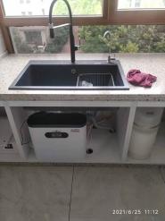 东景美林安装508直饮机加管线机、软水机